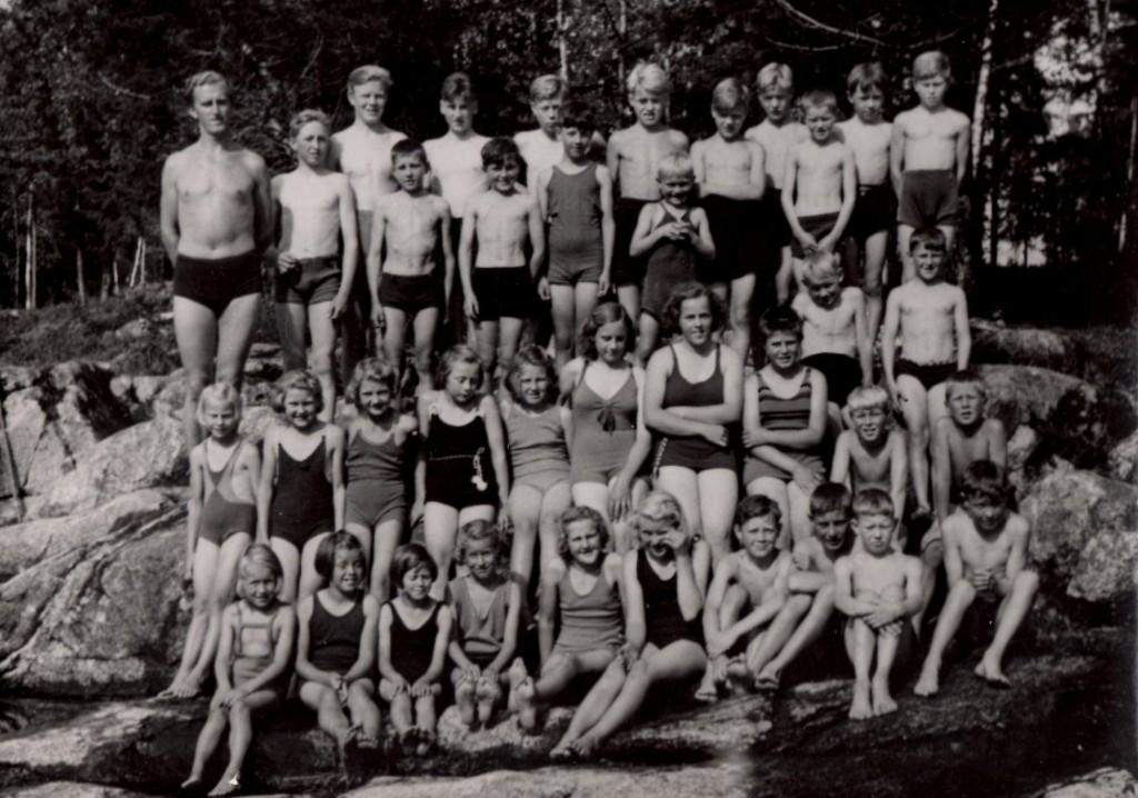 Svømmeopplæring Bærtangen 1940