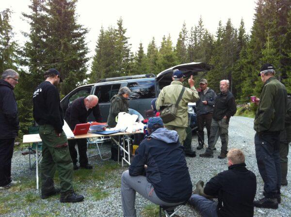Påmelding til fiskecup foregår en time før fiskestart i hver runde