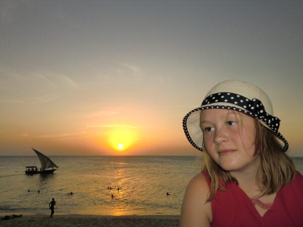 maren i solnedgang