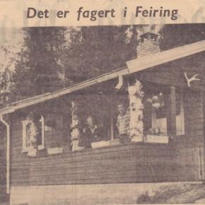 Hytteliv i Feiring 49 år siden