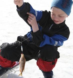 Isfiske på Vesle-Byua