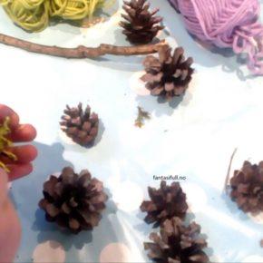 Minijuleverksted på julemarkedet