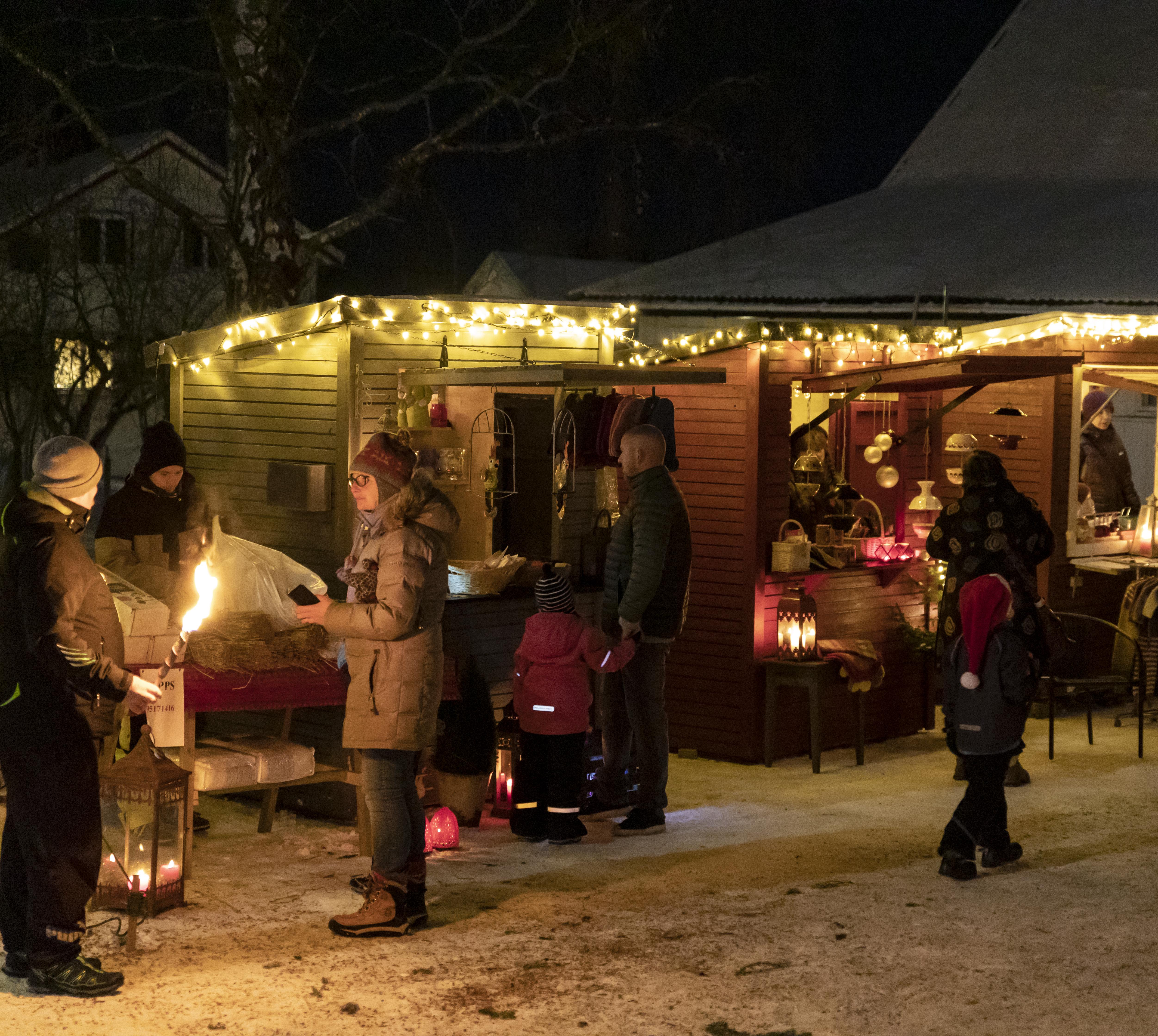 Ledige uteboder til julemarkedet