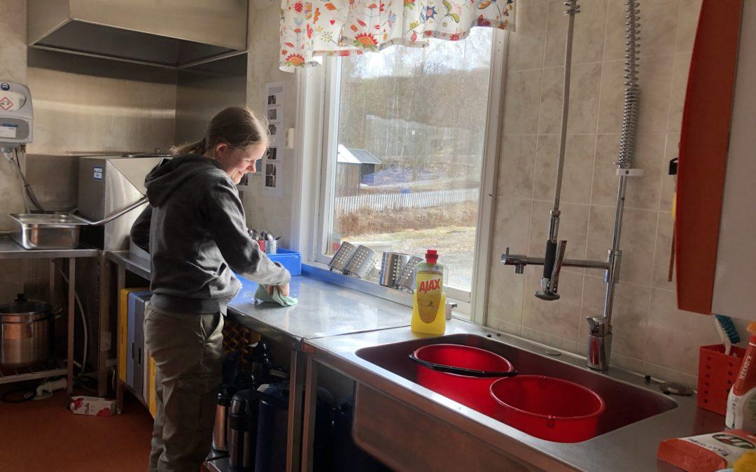 Vasker rundt på Fløygir